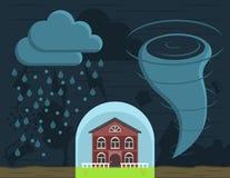 Assicurazione domestica contro i disastri naturali illustrazione vettoriale