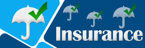 Assicurazione due blocchi blu illustrazione vettoriale