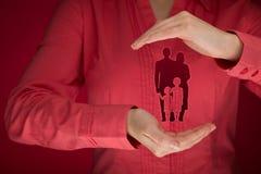 Assicurazione e politica di vita familiare Fotografie Stock Libere da Diritti