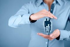Assicurazione e politica di vita familiare Immagine Stock Libera da Diritti
