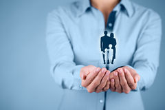 Assicurazione e politica di vita familiare Immagini Stock