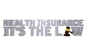 Assicurazione malattia è la legge Fotografia Stock Libera da Diritti
