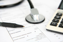 Assicurazione-malattia Fotografia Stock Libera da Diritti