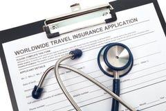 Assicurazione malattia di viaggio Fotografie Stock