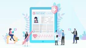Assicurazione malattia e vettore piano di servizi medici royalty illustrazione gratis