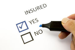 Assicurazione o rischio Fotografie Stock