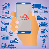 Assicurazione sul cellulare Immagini Stock