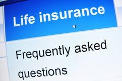 Assicurazione sulla vita Immagini Stock Libere da Diritti