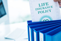 Assicurazione sulla vita Immagine Stock