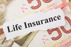 Assicurazione sulla vita fotografie stock