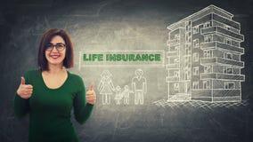 Assicurazione sulla vita fotografie stock libere da diritti