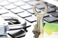Assicuri il commercio elettronico di acquisto Fotografia Stock Libera da Diritti
