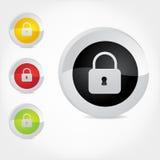 Assicuri il distintivo per il Web o stampi Immagini Stock