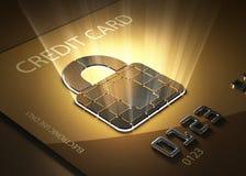 Assicuri le transazioni della carta di credito Fotografia Stock Libera da Diritti