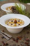 Assidat zgougou - traditional tunisian dessert prepared for cele Stock Image