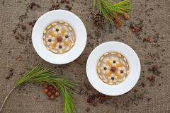 Assidat zgougou - traditional tunisian dessert prepared for cele Stock Photos