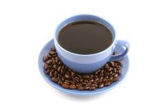 assiette creuse de café d'haricots photo stock