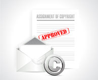 Assignment of copyright approved concept Royalty Free Stock Photography