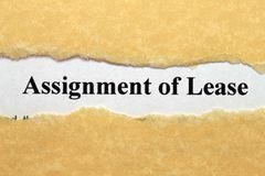 Assignment of lease Royalty Free Stock Photos