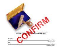 Assignment of lease - confirm Stock Photography