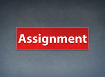 Assignment Red Banner Abstract Background. Assignment Isolated on Red Banner Abstract Background illustration Design stock illustration