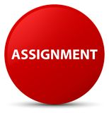 Assignment red round button. Assignment isolated on red round button abstract illustration Royalty Free Stock Images