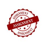 Assignment stamp illustration. Assignment red stamp seal stamp illustration Stock Images