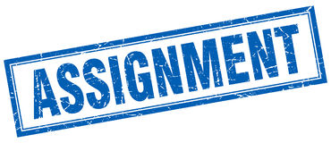 Free Assignment Stamp Royalty Free Stock Photos - 99000368