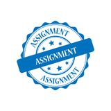 Assignment stamp illustration. Assignment blue stamp seal illustration design Stock Image
