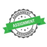 Assignment stamp illustration. Assignment stamp seal illustration design Stock Images