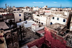 Assilah town. High viewpoint of the city of Assilah, Morocco Royalty Free Stock Photo