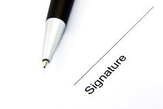 Assinatura 1 Fotografia de Stock Royalty Free