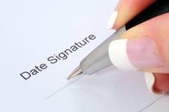 Assinatura Imagem de Stock