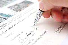 Assinatura Imagens de Stock