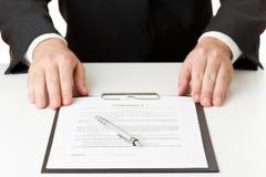 Assinatura do contrato Imagem de Stock Royalty Free