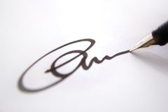 Assinatura do negócio - letra Fotografia de Stock Royalty Free