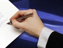 Assinatura do projeto de Bussiness fotografia de stock royalty free