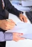 Assinatura legal Imagens de Stock