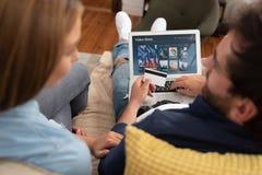 Assinatura por encomenda video da televisão imagem de stock