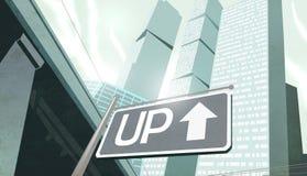 Assine acima na cidade Foto de Stock Royalty Free