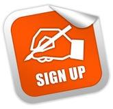 Assine acima o ícone Fotografia de Stock Royalty Free