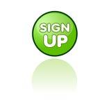 Assine acima a tecla do Web Fotografia de Stock