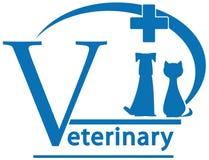 Cão, gato no símbolo da medicina veterinária Imagens de Stock Royalty Free