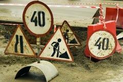 Assine dentro a estrada Imagem de Stock
