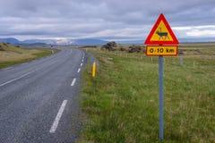 Assine dentro Islândia foto de stock royalty free