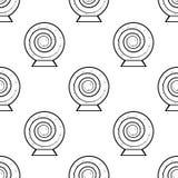 assine dentro o ícone mágico da bola do jogo Elemento de ícones do jogo para apps móveis do conceito e da Web A repetição do test ilustração royalty free