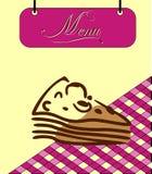 Assine a pilha do menu de Borgonha com parte de Ñake. Vetor ilustração stock