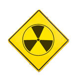 Assine a radiação Fotografia de Stock Royalty Free