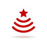 Assine Wi-Fi sob a forma de uma árvore de Natal com estrela Fotos de Stock