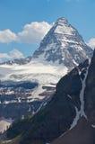assiniboine冰川挂接 库存照片